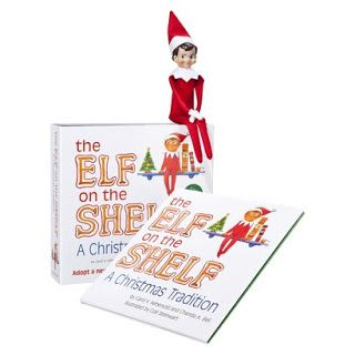 "Have you ever heard of Elf on the Shelf? It's okay, I didn't either. Elf on the Shelf visits for a short while ""watches"" your kiddos and reports back to Santa if they are being naughty or nice. Enter to #win an Elf on the Shelf of your own!"