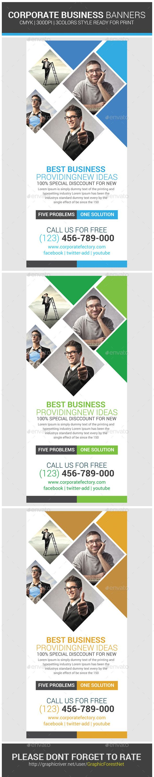 Business Rollup Banner Psd Template | Pinterest | Cartelitos y ...