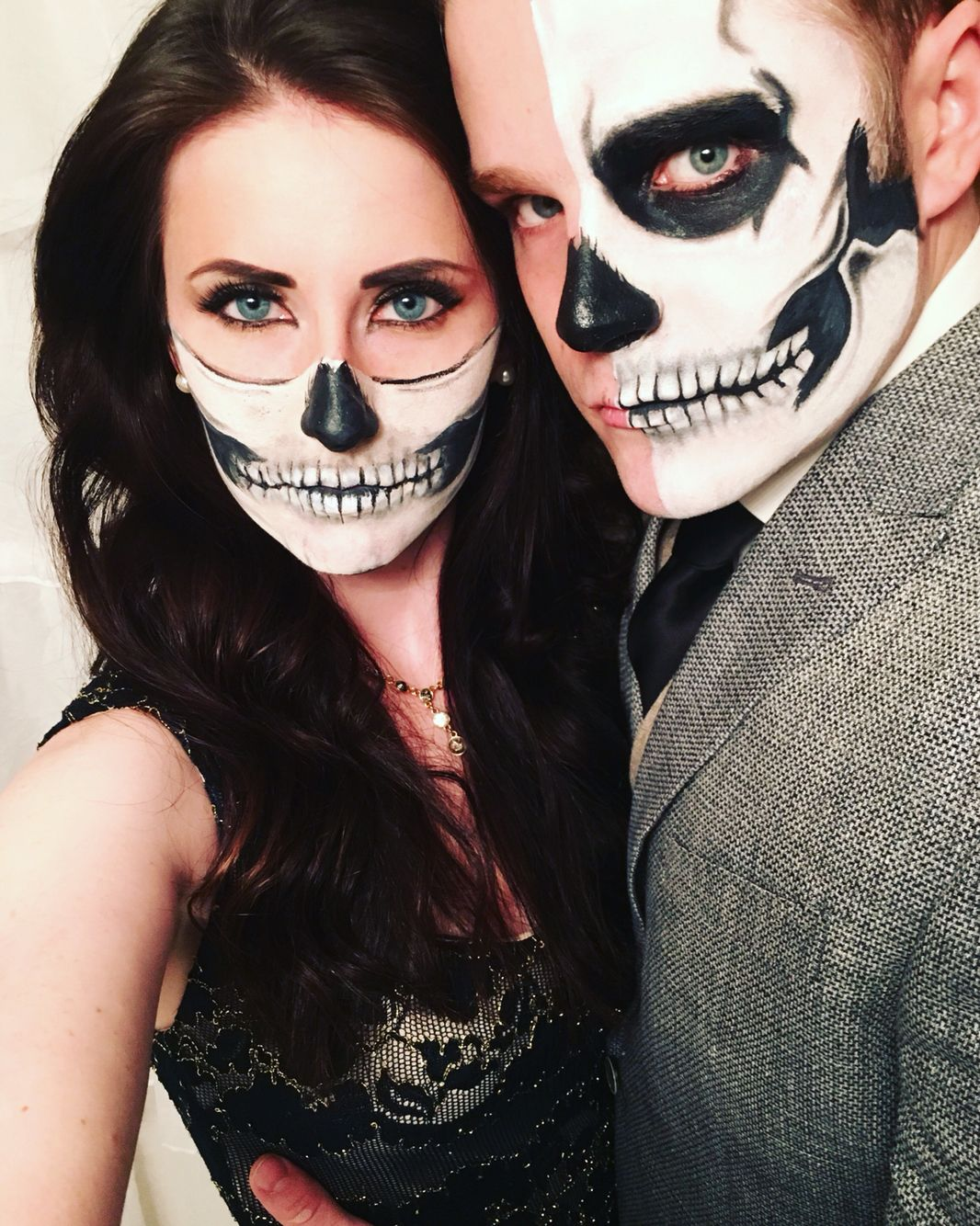 Maquillage squelette mexicain fashion designs - Maquillage halloween couple ...