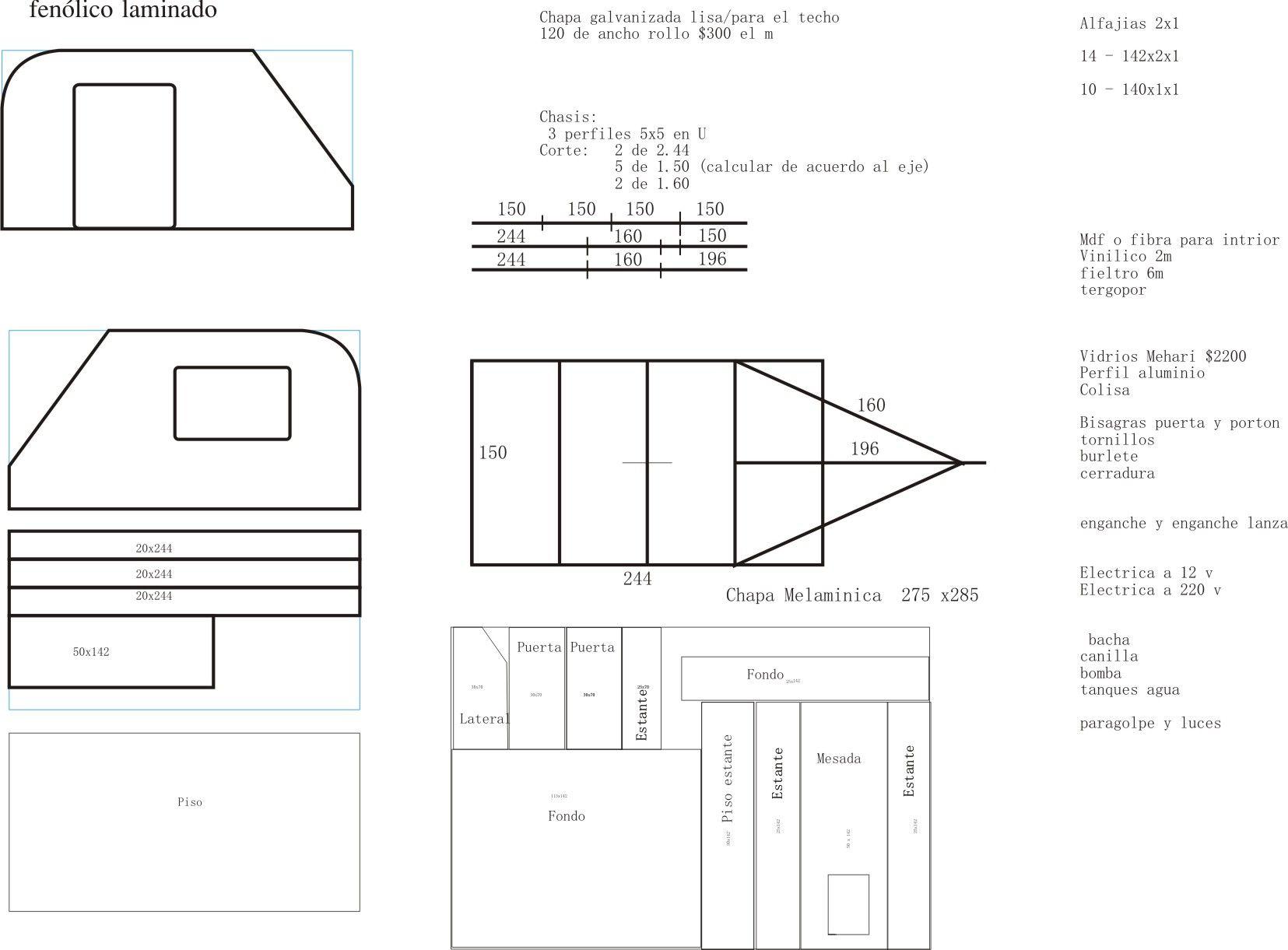 proyecto4 | planos de rodantes | Remolques de camping ...