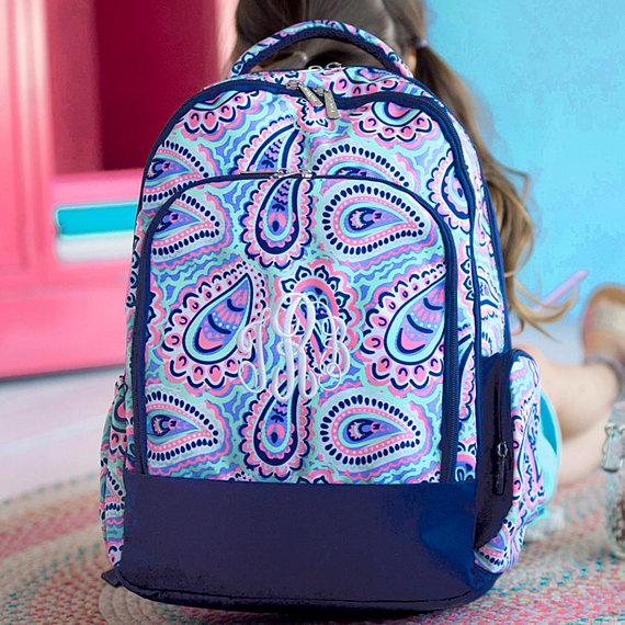 Chevron Backpack Girls Backpack and Lunchbox Personalized Backpack and Lunchbox Monogrammed Backpack and Lunch Box Set Cute Backpack Set