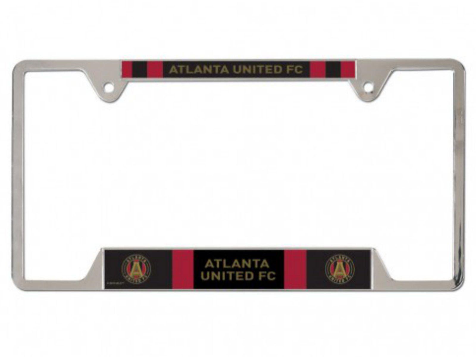Atlanta United FC Wincraft MLS Team Logo Chrome License Plate Frame ...
