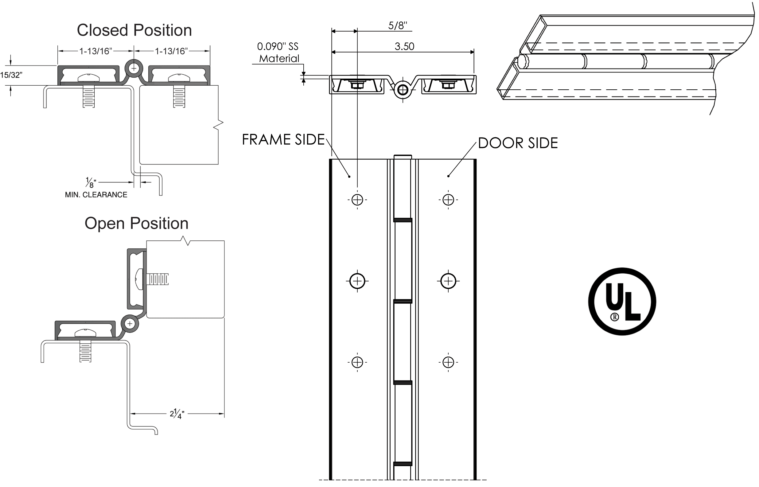 Specs For Piano Hinge For Folding Counter In Laundry Room