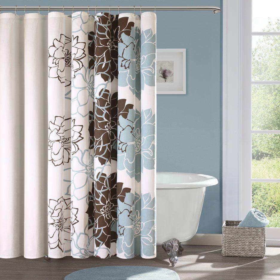 Madison Park Farrah Cotton Sateen Shower Curtain By Madison Park - Floral bathroom accessories set for bathroom decor ideas