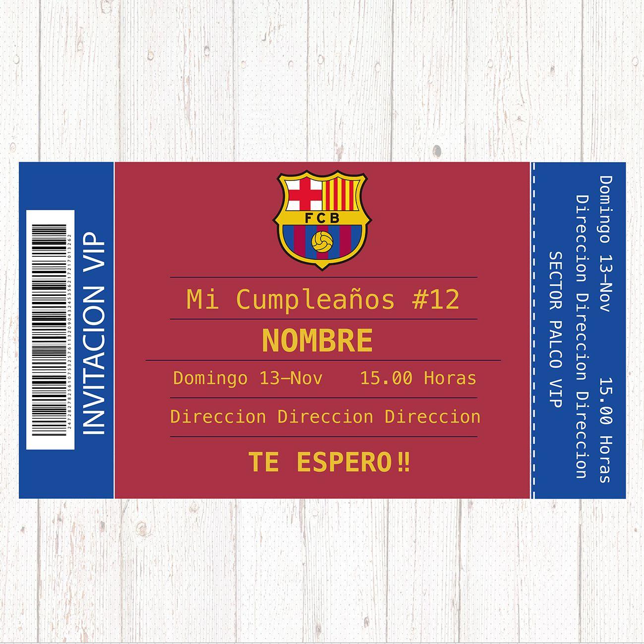 Barcelona Digital Printable Birthday Party Invitation