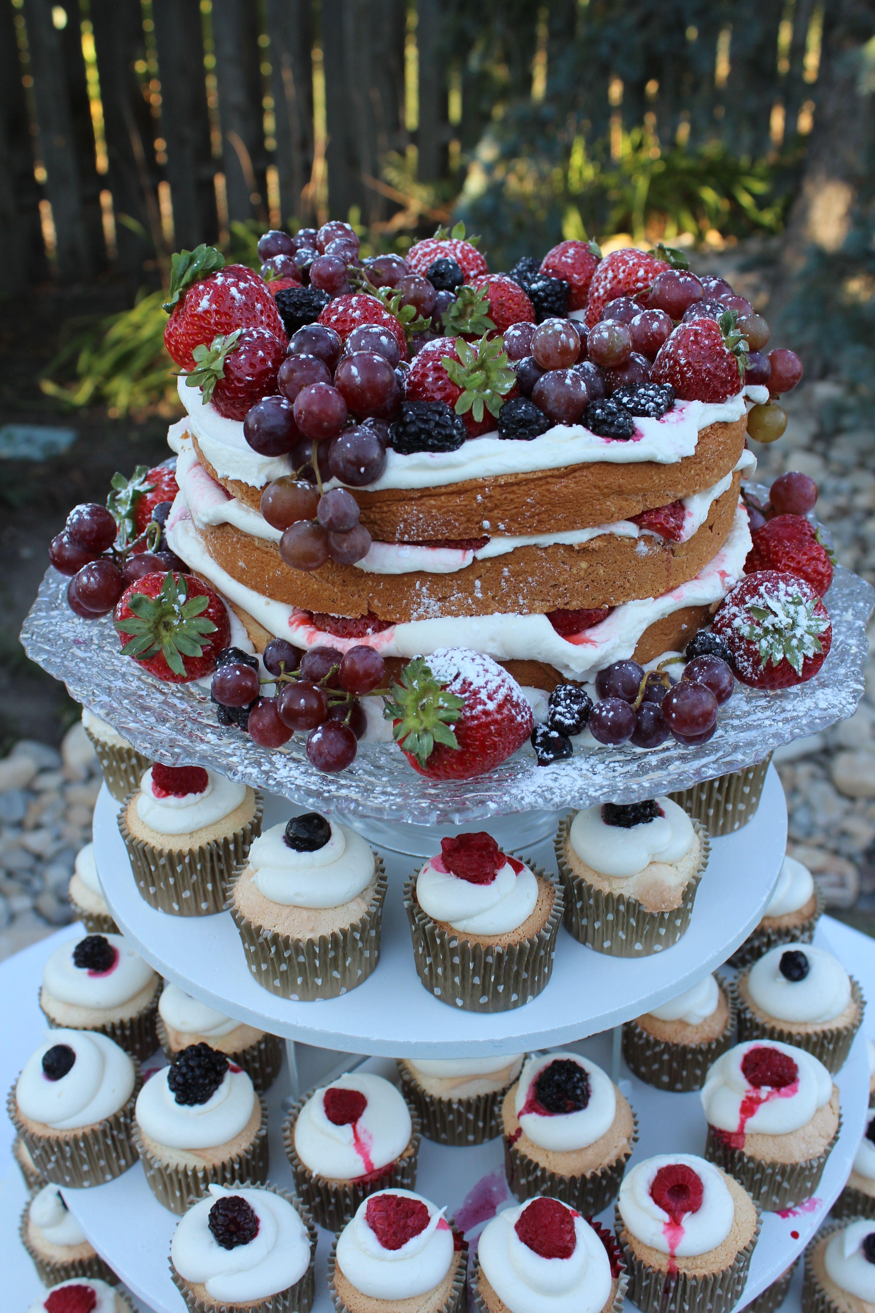 Angel Food Cake Wedding Cake And Cupcakes Angel Food Cupcake Cakes Cake Recipes