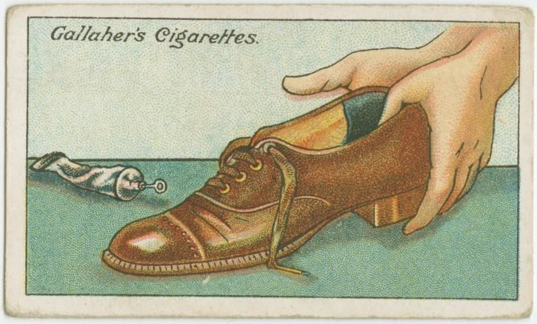 How to remedy loose shoes. From New York Public Library Digital Collections.