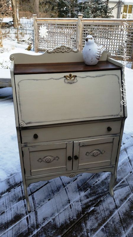 Painted Secretary Desk Quot Greenhill Quot Painted Secretary