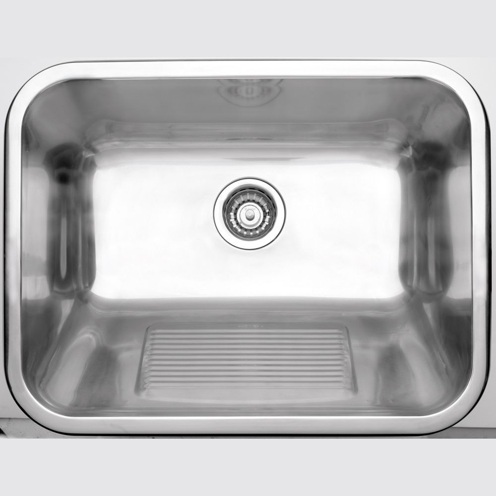 Stainless Steel Laundry Tub 1 Bowl Topmount With Scrubbing