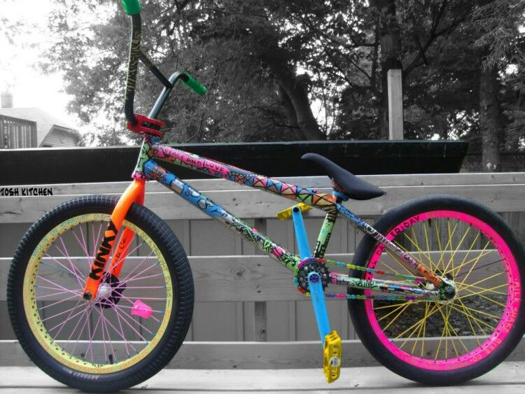 Graffiti Custom Paint Amazing Job On The Bike Bmx Bikes Bmx