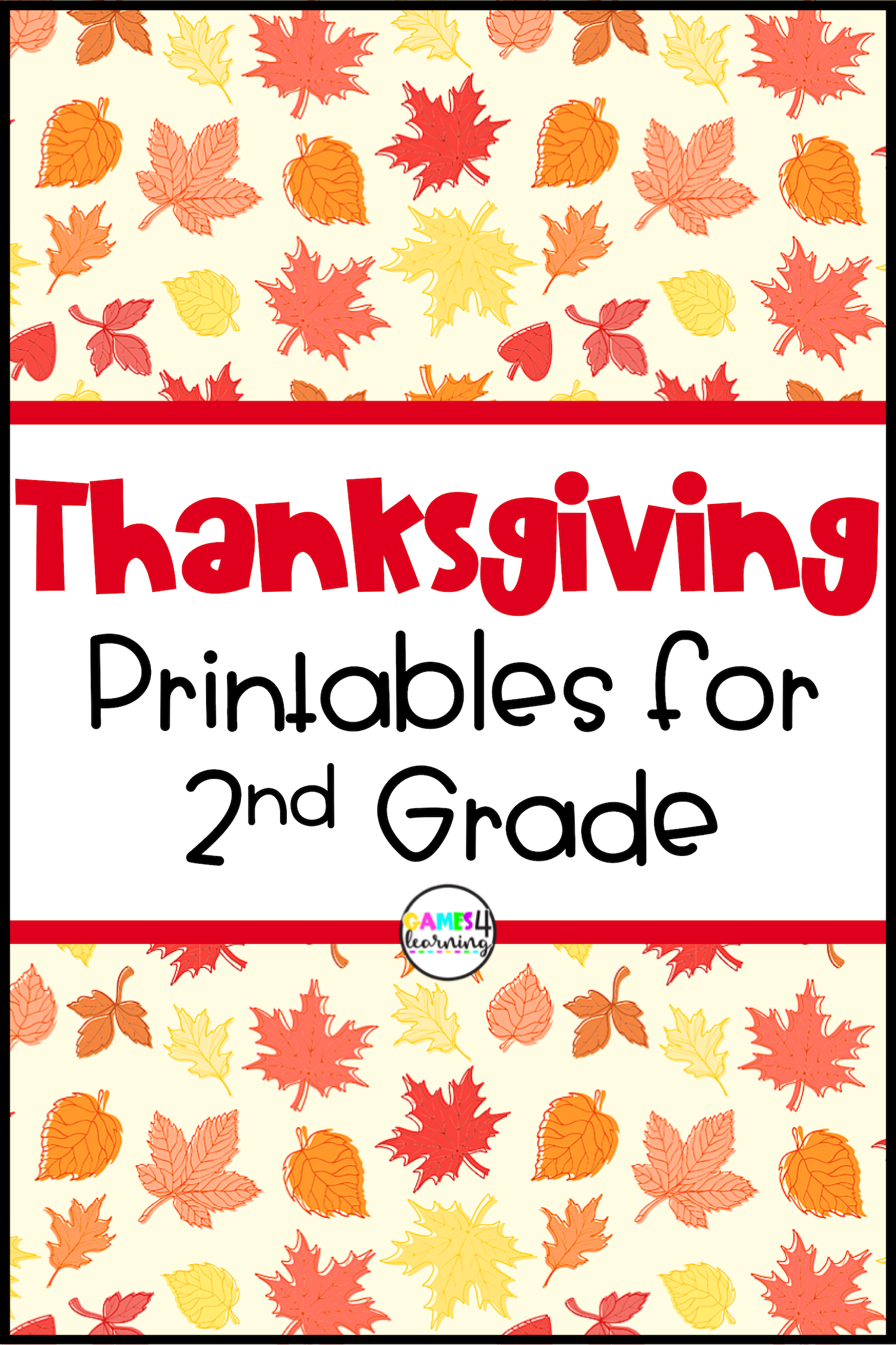 These Thanksgiving Printables For Second Grade Will Give