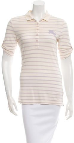 Burberry Brit Short Sleeve Polo Top