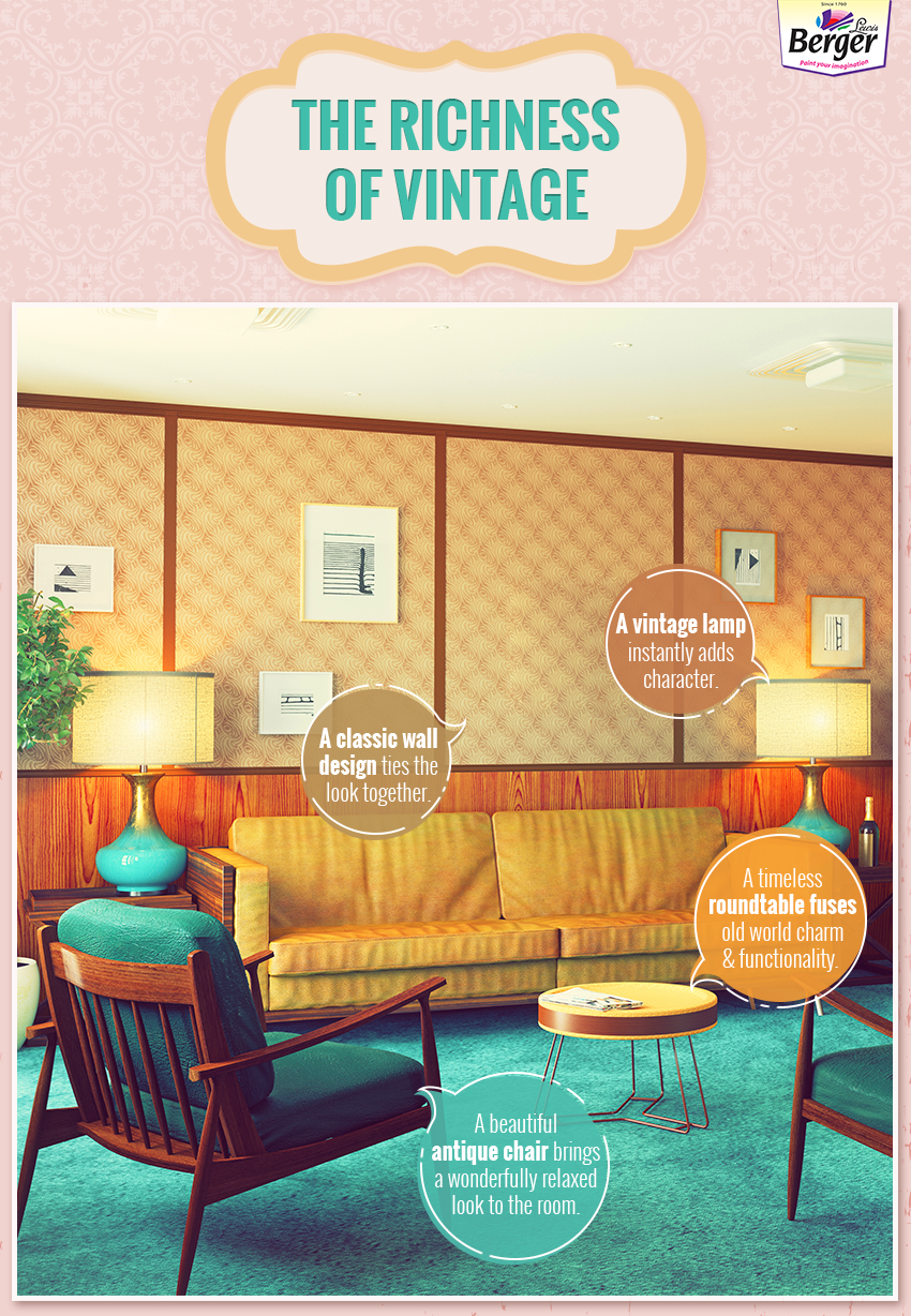 Seek inspiration from the richness of vintage which brings out the charm of yesteryear. #Vintage #decor