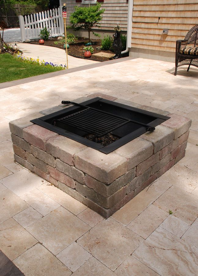 Cape Cod Fire Pits Square Fire Pit Kit Outside Fire Pits