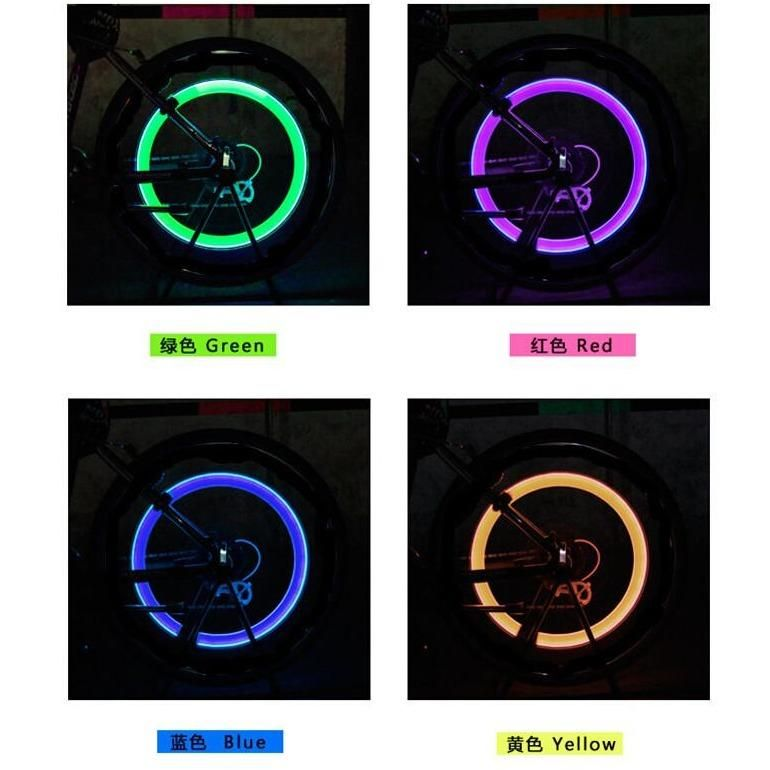 LED Bicycle Tire Valve Caps light   Bicycle tires, Bicycle ...