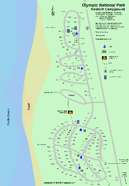 Olympic National Park Kalaloch Campground Map   Seattle Trip ...