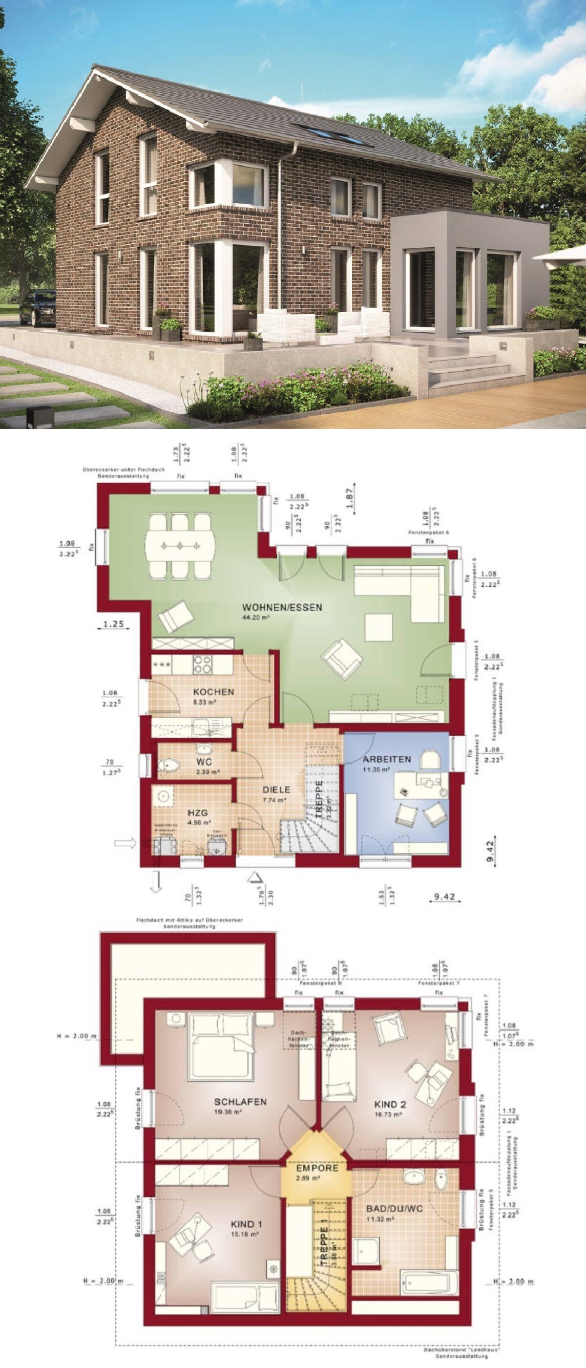 Modernes Haus EVOLUTION 143 V7 mit Erker – Bien-Zenker | HausbauDirekt  – Haus
