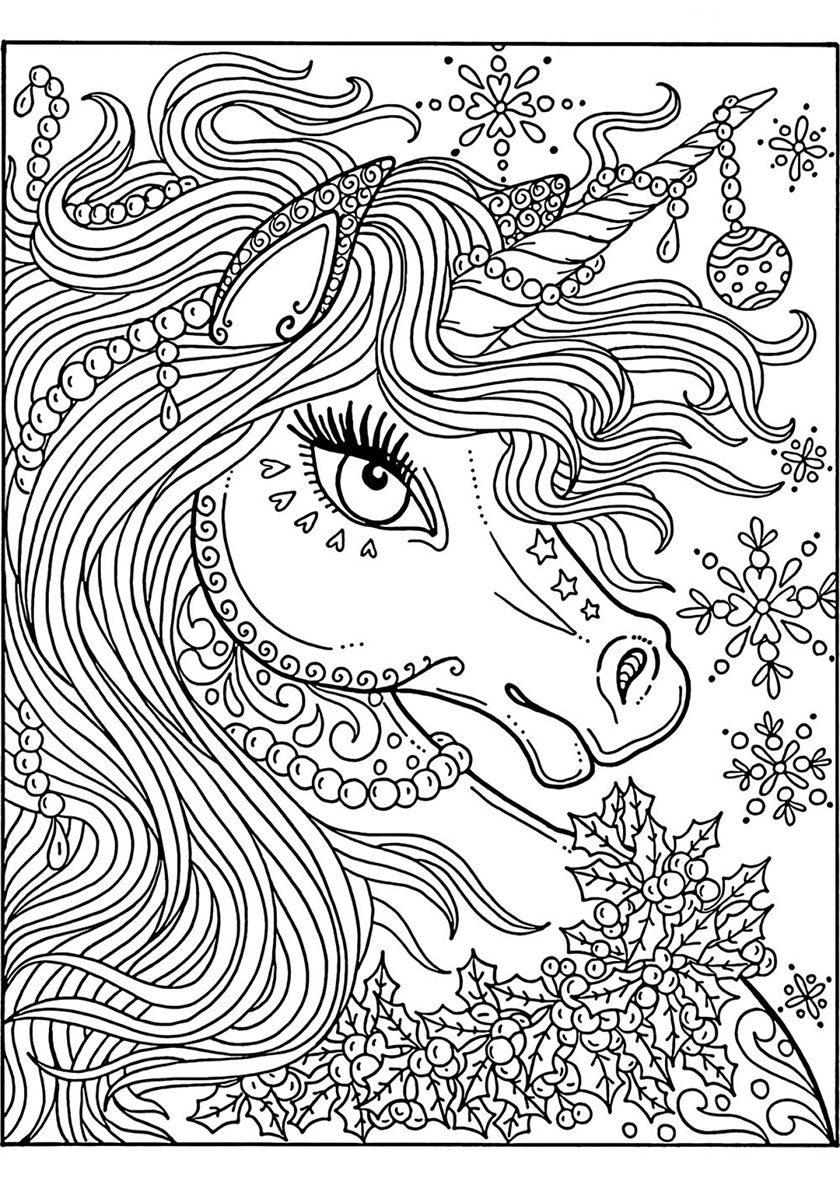 Cutable Unicorns Printable Coloring Pages - Tripafethna