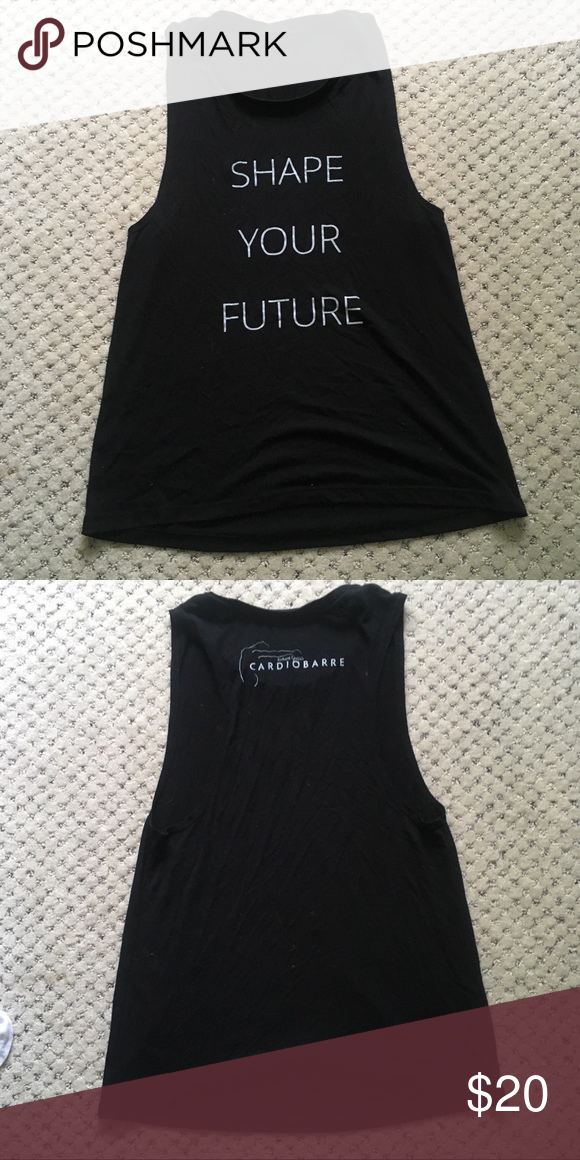 Shape Your Future Muscle Tank Worn and in good condition! Cardio Barre muscle tank. Lots of life left. Fits a S/M loose fit. Smoke free home Cardio Barre Tops Muscle Tees #cardiobarre Shape Your Future Muscle Tank Worn and in good condition! Cardio Barre muscle tank. Lots of life left. Fits a S/M loose fit. Smoke free home Cardio Barre Tops Muscle Tees #cardiobarre
