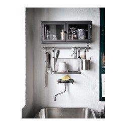 IKEA - GRUNDTAL, Stang, 80 cm, , Frigør arbejdsplads på køkkenbordet.Kan også bruges som håndklædestang eller grydelågsholder.