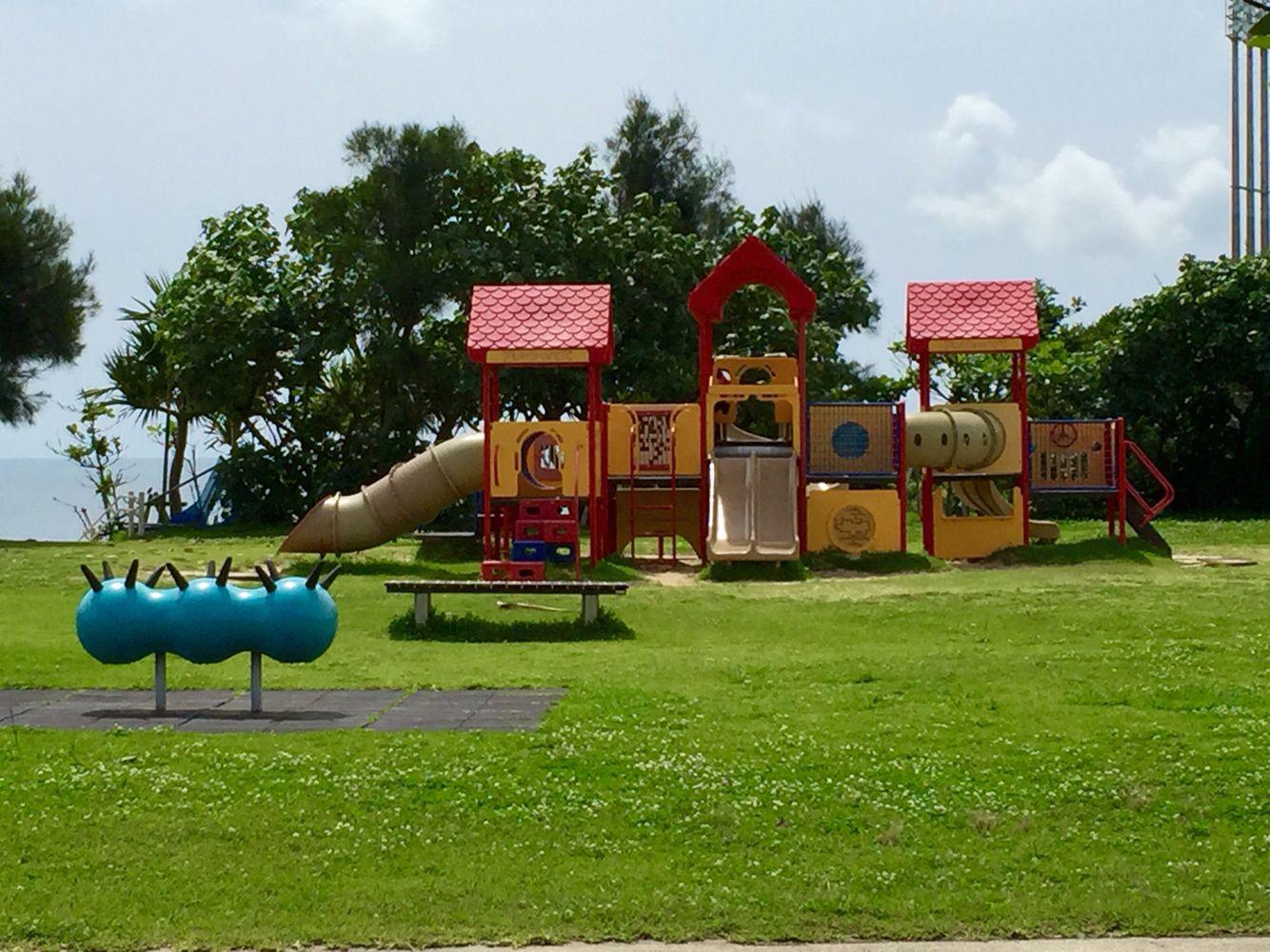 Agarizaki Shihara Park next to the beach across Nishihara
