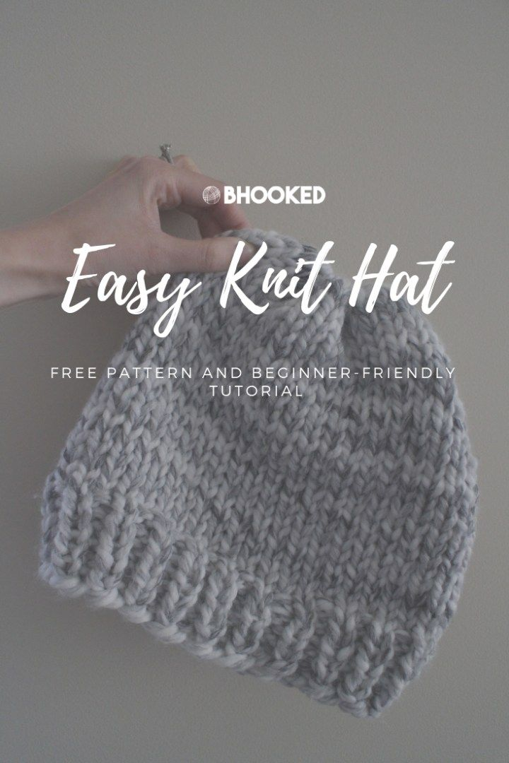 Easy Knit Hat | Easy knit hat, Beginner knitting patterns ...