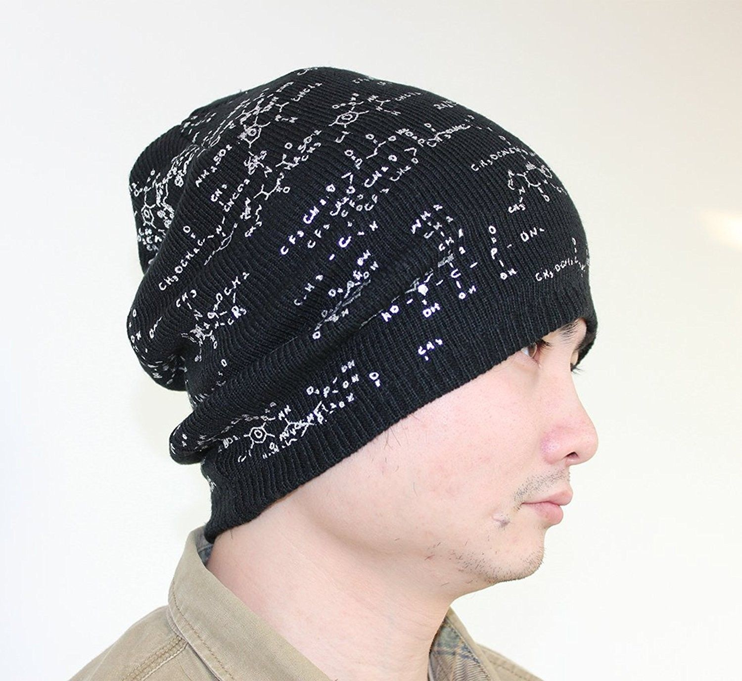 a7401e9f672 Chunky Cable Knit Beanie Hat Double Layers Winter Warm Skully Cap ...