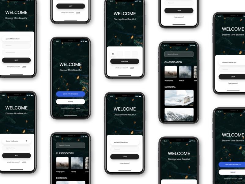 Wallpapers App Part1 Wallpaper App App Design Inspiration