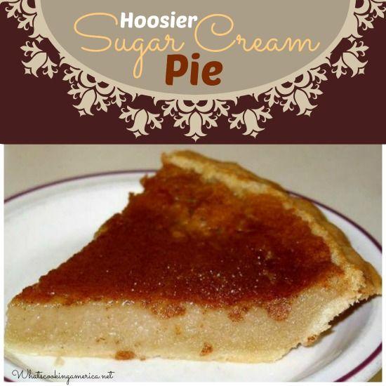 Hoosier Sugar Cream Pie Recipe - Indiana Cream Pie, Finger Pie, ( Shaker & Amish recipe) | whatscookingamerica.net | #sugarcreampie