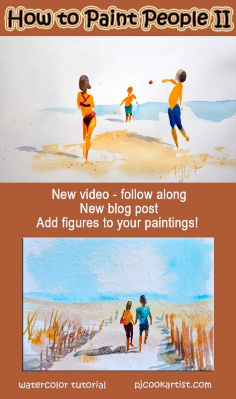 How to Paint People II is part of Watercolor paintings, Watercolor art, Watercolor paintings tutorials, Painting people, Art painting, Painting tutorial - How to Paint People II is a followup video tutorial from one of my most popular posts  For most people (including myself) painting people is intimidating