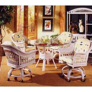 White And Whitewash Rattan And Wicker Dining Room Furniture Sets Stunning Wicker Dining Room Sets Inspiration Design