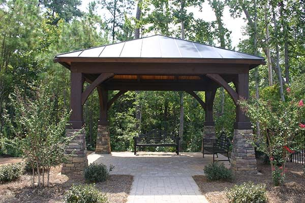 Western Red Cedar Gazebo Kits add character and functionality.