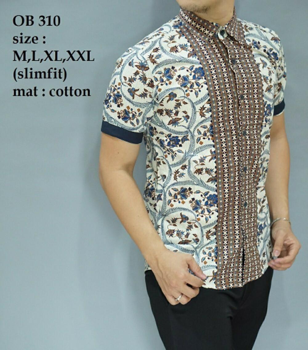 Model Batik Pria Lengan Pendek Panjang Modern Gaul Slimfit ...