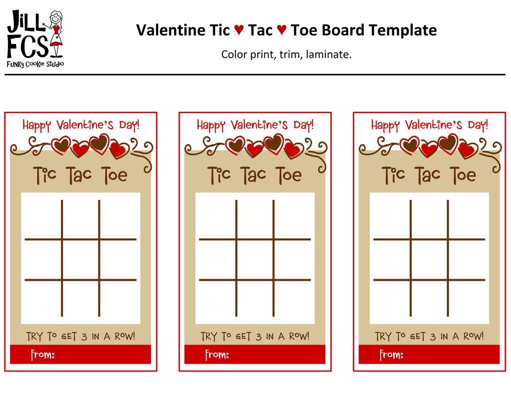 Valentine TicTacToe Board Template  Tic Tac Toe Board Toe