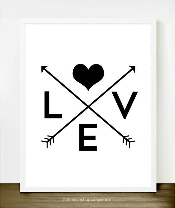 Love is Everywhere - 8x10 inch on A4 Print (in Classic Black & White)