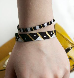painted leather bracelets