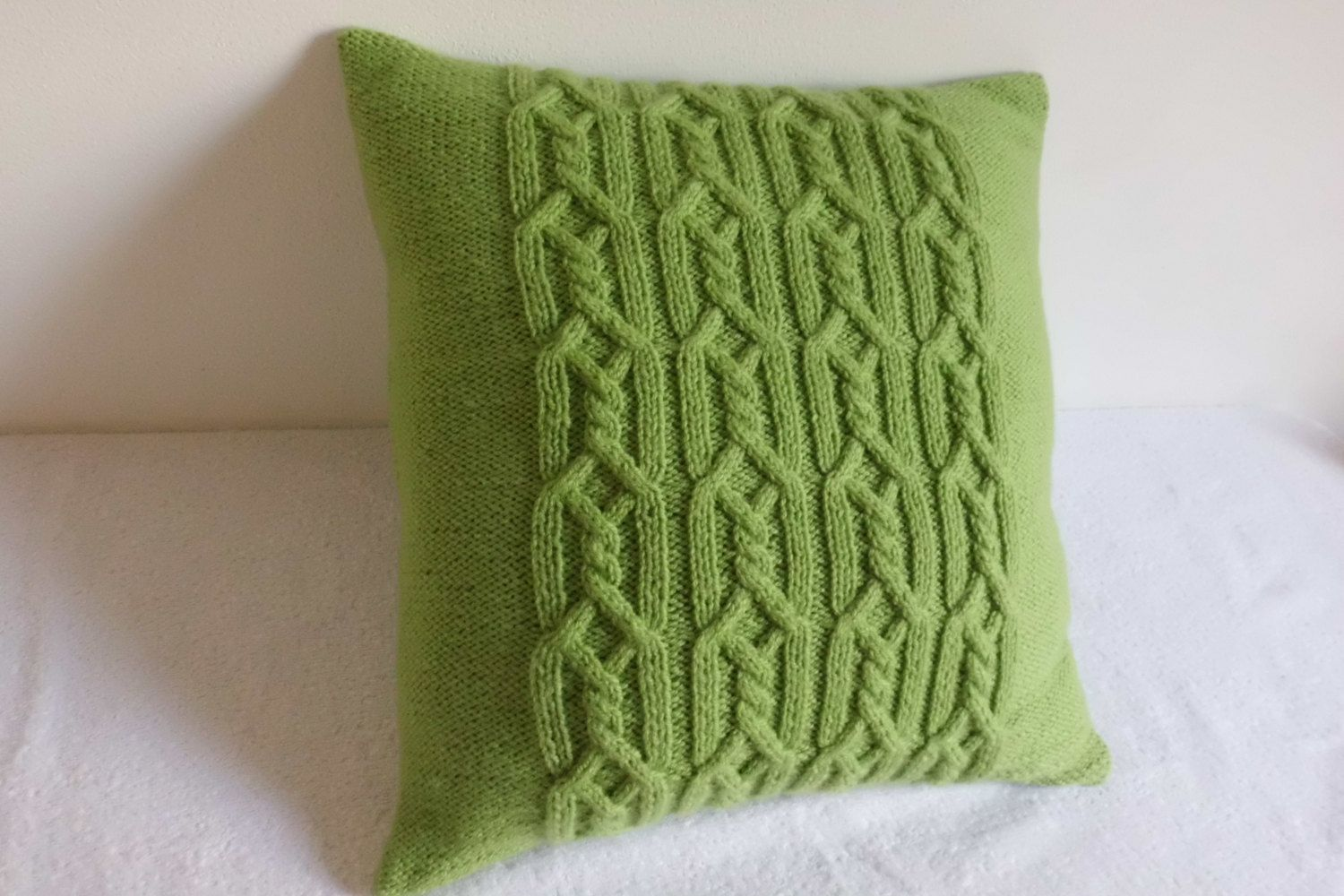 Decorative Greenery Knit Throw Pillow Spring Green Pillow Cover
