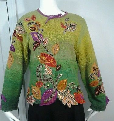 Design Options Philip & Jane Gordon Fall Autumn Sweater Leaves ...
