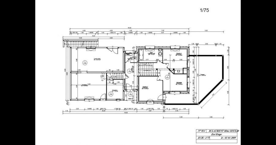 Plan De Maison Plans Etage 1 La Motte Servolex Savoie 73 Mai 2009 In 2020 Floor Plans Photo Diagram