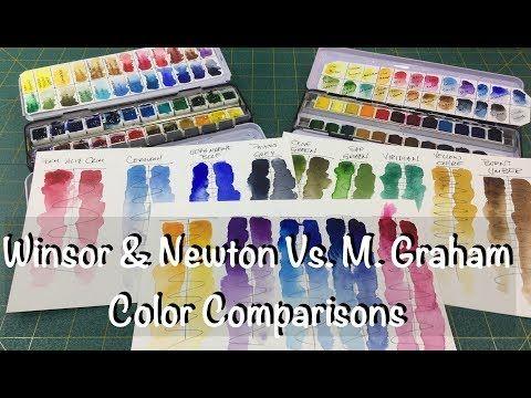 Winsor Newton Vs M Graham Color Comparison Review Watercolor
