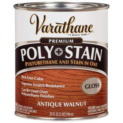 Varathane 1 Qt Antique Walnut Gloss Oil Based Interior Stain And Polyurethane 339604 Varathane Varathane Stain Stain