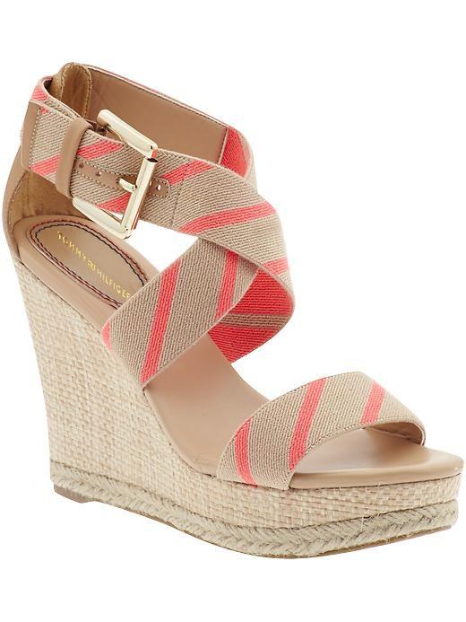 765aacf1ed9 Tommy Hilfiger Dalishay Wedge Sandals | Kläder | Fashion shoes, Shoe ...