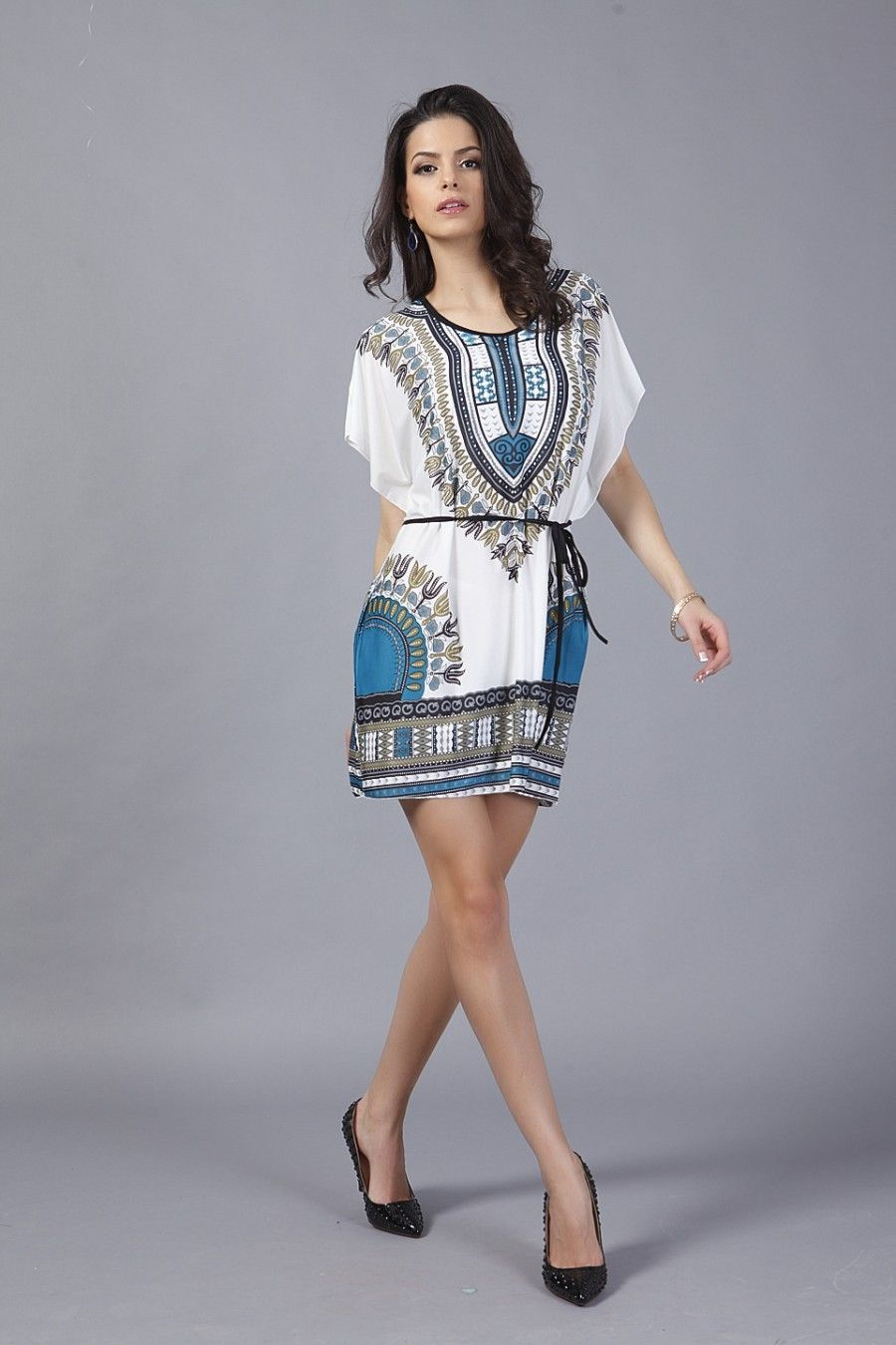 017e7828ec8 New African Dress New Summer Fashion Traditional Dresses For Women Female  African Clothing Dashiki Print Big Size Tunic Shirt