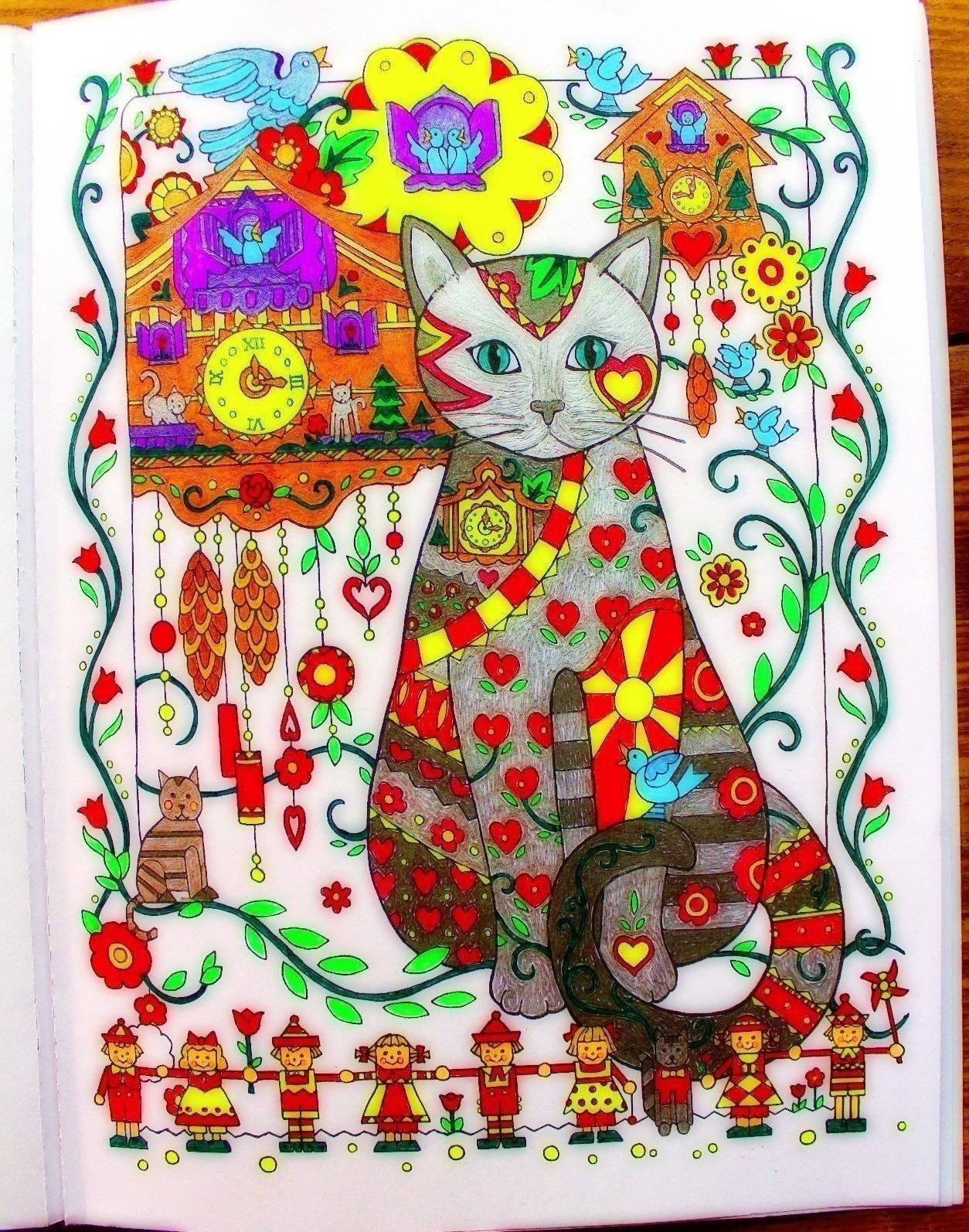 Creative haven creative cats coloring book adult coloring