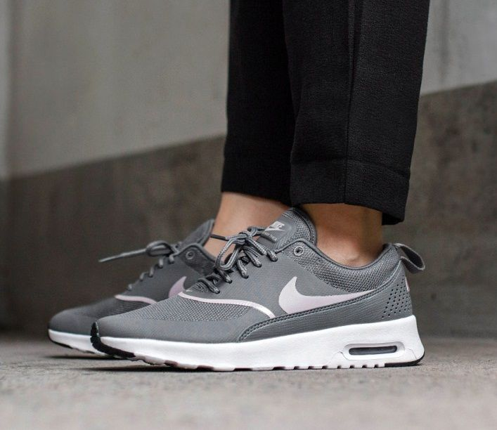 Nike Air Max Thea In Gunsmoke Particle Rose Black | Nike