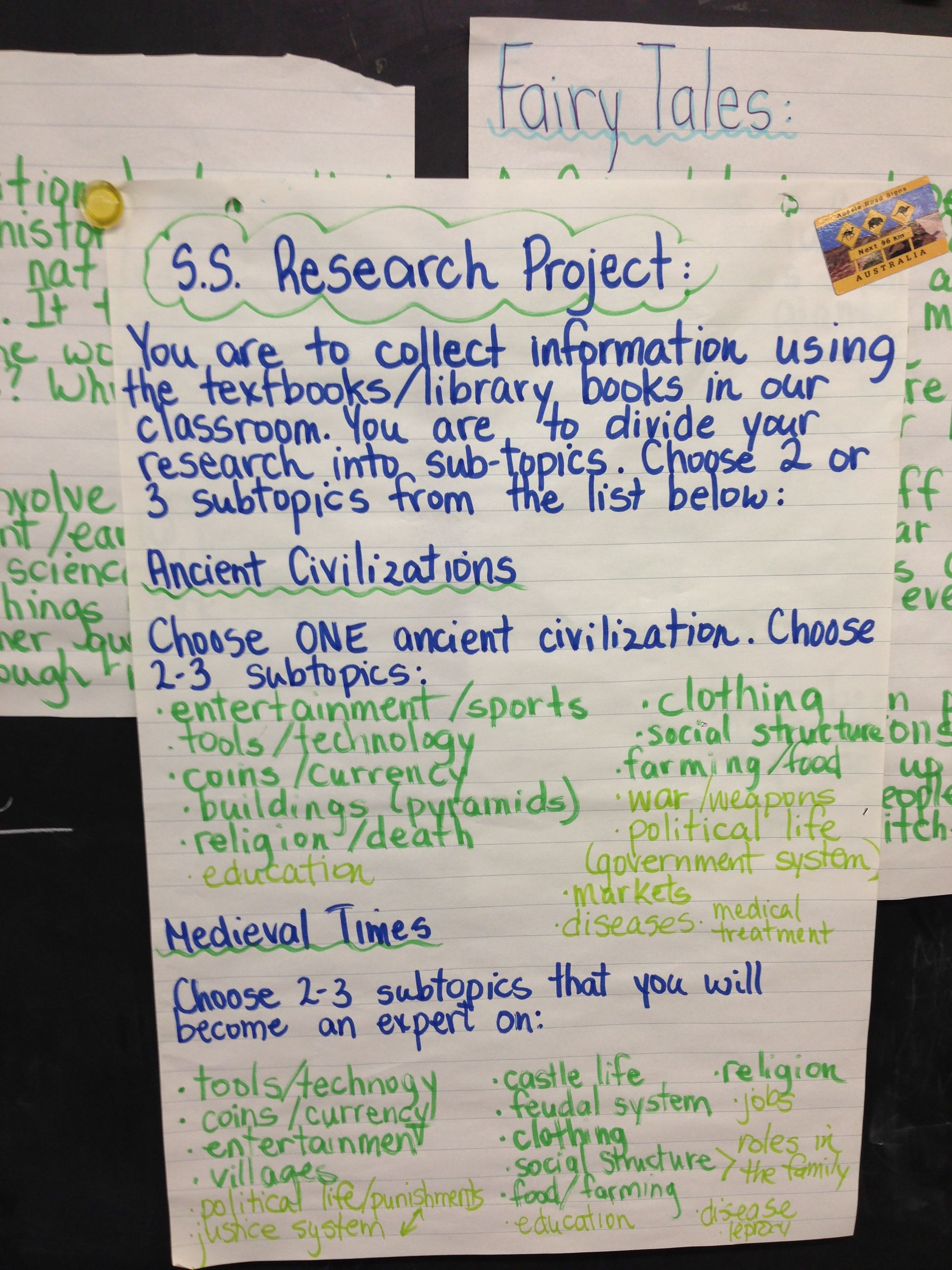 Social studies research project...ancient civilizations & medieval times grade 4/5