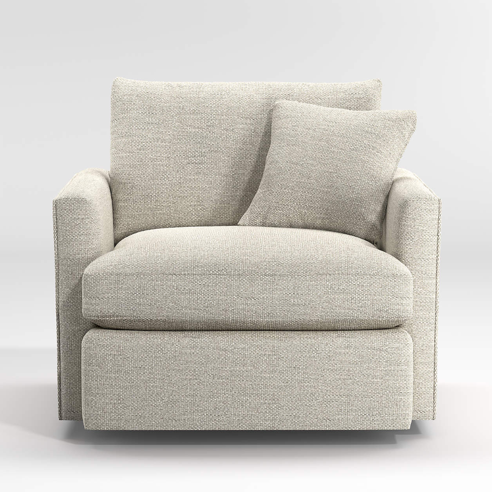 Lounge Deep 360 Swivel Chair + Reviews   Crate and Barrel