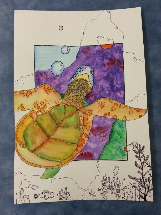 Sea Creature Watercolor Art Project Junior High Art Class