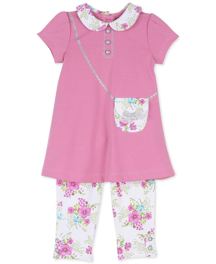 Little Me Baby Girls' Ponte Dress & Leggings Set