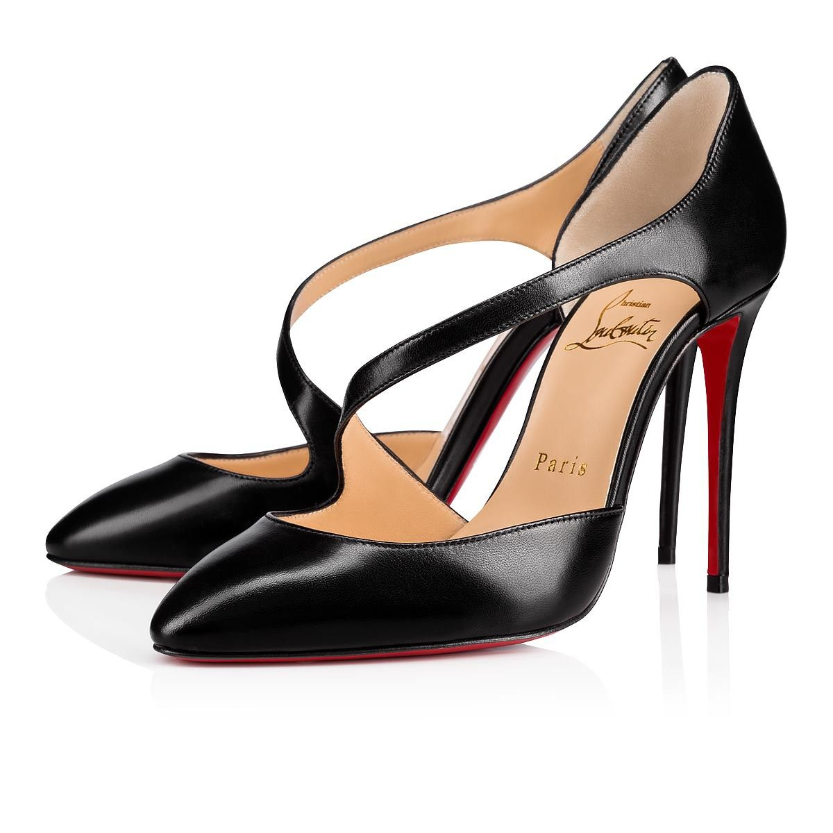 a58dadc3cfc Catchy One 100 Black Leather - Women Shoes - Christian Louboutin in ...